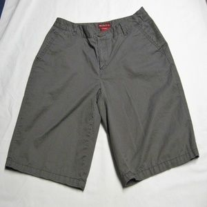 Bermuda Shorts-Sz 4-Dark Gray-100% Cotton